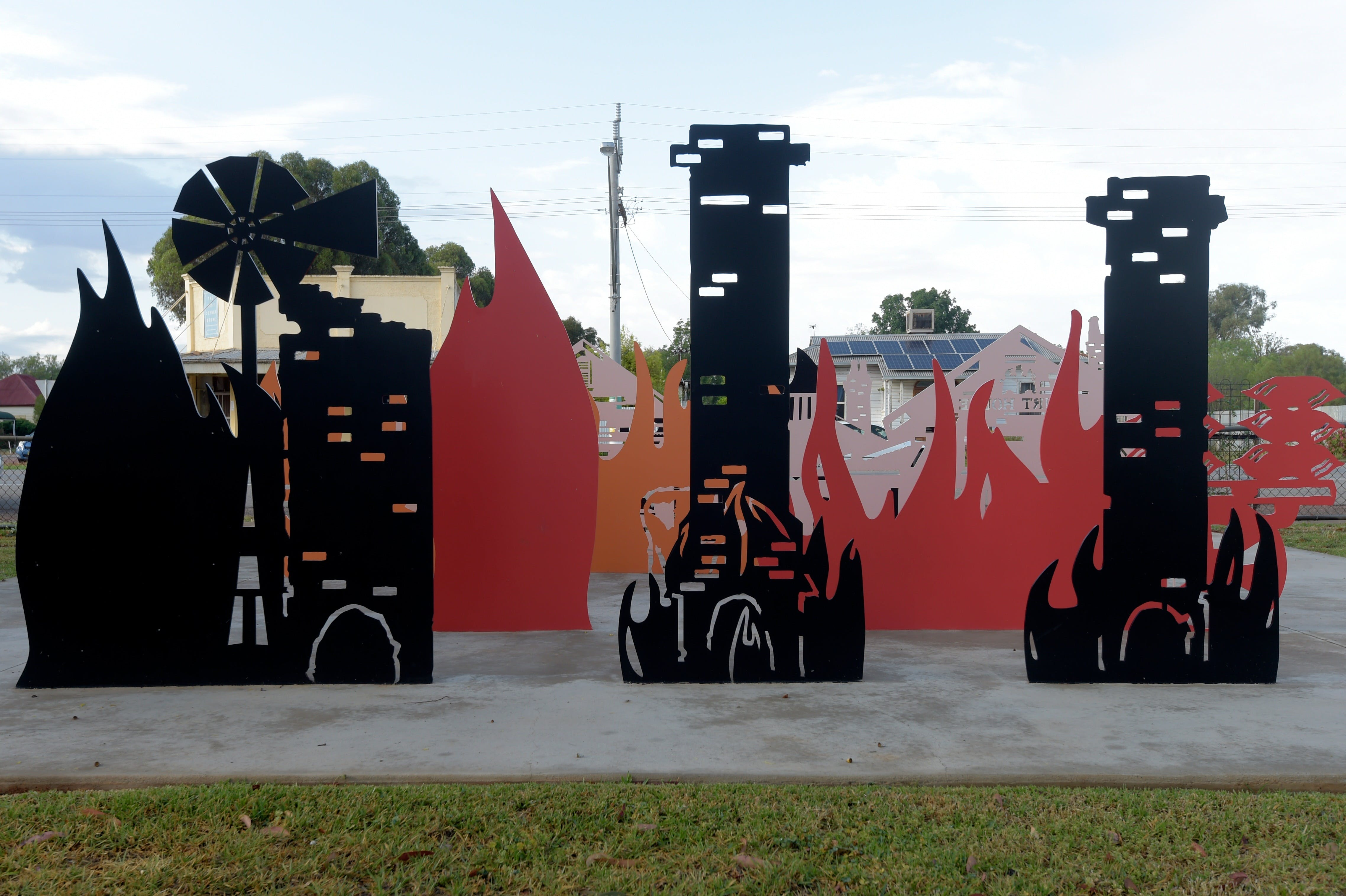 Lyrics Landscapes and Lintels - Leeton Public Art Trail - Yamba Accommodation
